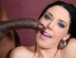 Slut with gorgeous eyes gets a colonoscopy courtesy of a big black cock