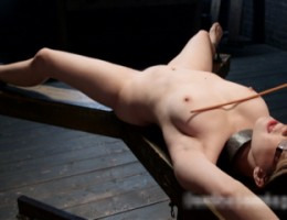 Hot young slut gets her first taste of Device Bondage.