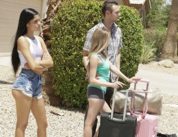 Angel Smalls waits by the roadside with her boyfriend Brad Sterling and his stepsister Katya Rodriguez as they embark on a family road trip. The first stop will be dropping Angel off at her house in another city. The trio is embarrassed when Peter, Brad\'