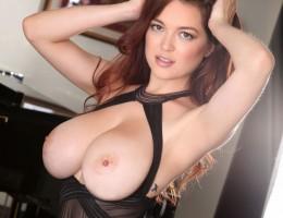Tessa Fowler in a hot sheer lingerie