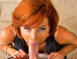 Veronica Avluv orders herself a gigolo. When Johnny shows up asking for directions she plays along, has him come inside, gives him a little wine and starts banging his brains out. After Johnny cums down her throat Veronica shows him out. Thats when th