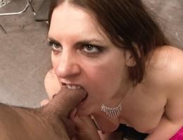 Horny & fierce slut sucks a lollipop and dick all the same