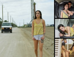 Breaking Doan Sexy Asian tatted teen Mi Ha Doan has been abandoned by her so-called friends in the middle of nowhere. Things look bleak for her until Bruno suddenly appears in his white van and agrees to help her. A little down the road she reveals that s