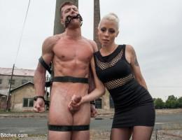 Lorelei Lee teases and denies slaveboy in Prague and leaves him bound on train tracks!