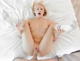 hot blonde Dakota sucks and fucks a big cock