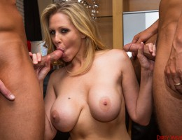 Julia Ann gets double teamed and she loves having a hot threesome.