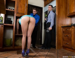 Vicki Chase loves to throw dinner parties, especially for her husbands friends and co-workers. Her husbands employee Keiran knows Vicki is the perfect hostess... so she wont mind getting groped in the kitchen while her husband is in the other room.