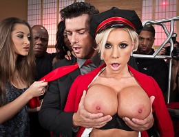 Lolly, the hotel bellgirl, is tired of all the fuss these sluts are making over celebrities. But when she realizes famous pornstar Ramon is in town and staying at HER hotel, she decides she can\'t miss a chance to fuck him. Time to bring up her bags...