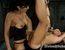 Mistress cuckolds a male model that comes to the Armory thinking he is going to have a chance to fuck her!