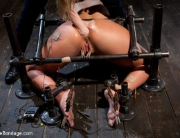 Sadistic Aiden has her way with Phoenix Marie with heavy torment and anal fisting.