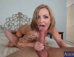 Horny hottie Taylor Tilden gets her pussy fucked by a big hard dick until she cums.