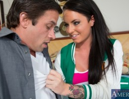 Gorgeous brunette Christy Mack has hot sex with her friends brother and loves when he fucks her pussy.