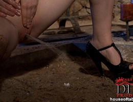 Ruth Medina gets double ended dildo action from Master Tina