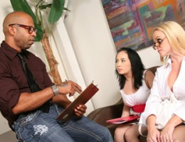 Black cock worship runs in the family with Dee Siren and Cherish Red