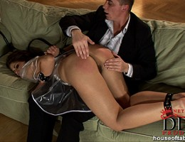 Valentina Rossinis firm ass is spanked red raw