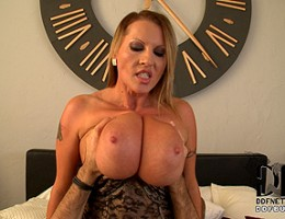 Laura M. Gobbling Up Cock With Her Pussy and 36F Floppers