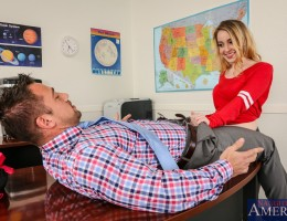 Alexia Gold is in trouble. She has been sucking dick on campus and has been caught. She\'s just following her dreams though. She loves sucking dick and she\'s convinced that sucking dick is what she was born to do. Just to prove it she shows her principal
