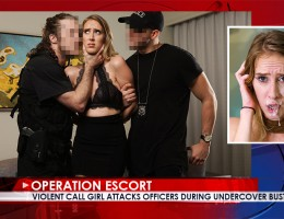 Foul-mouthed Whore Sexy foul mouthed call-girl Cadence Lux berates Officer Brick and when he catches her soliciting his undercover partner. For all her tough talk she folds as soon as they start to haul her away and begs Officer Brick not to arrest her. H