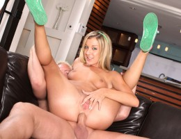 Horny Blonde Gets Ass Fucked Working As Babysitter