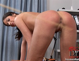 The peppering of Lucy Lees gorgeous round and fuckable ass!