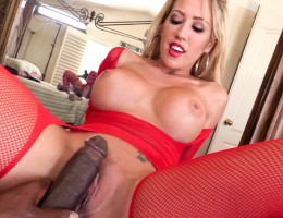 Naughty Capri rides Lex\'s huge cock in her tight hole.