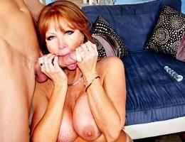 Beautiful Red Hair MILF Enjoying Licking This Huge Hard Cock