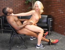Bodacious blonde Anikka Albrite dominates big dicked stud !