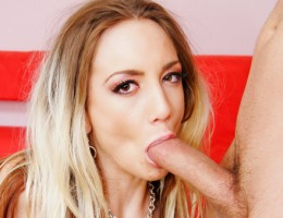 Sweet Kelly Down On Her Knees To DP A Big Hard Cock On Cam!