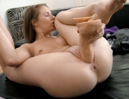 The amazing Lepidoptera masturbates and squirts for Rocco