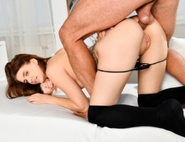 Hot babe Lexy Gold gets her tight ass stretched by Renato