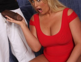 Voluptuous blonde searches for some interracial sex